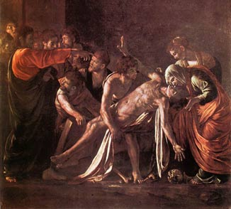 Raising Lazarus from the dead.